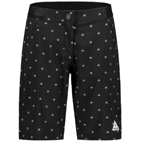 Maloja AnemonaM. Printed Multisport Shorts Dames, moonless heart